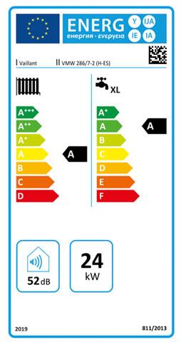 etiqueta de eficiencia energetica caldera vaillant ecotec pure 286/7-2