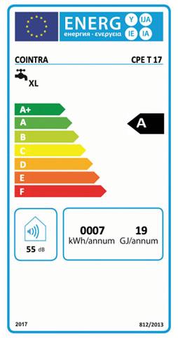etiqueta de eficiencia energetica calentador cointra premium cpe 17 t