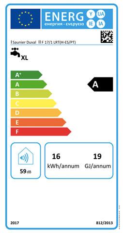 etiqueta de eficiencia energetica calentador saunier duval opaliatherm f 17/1