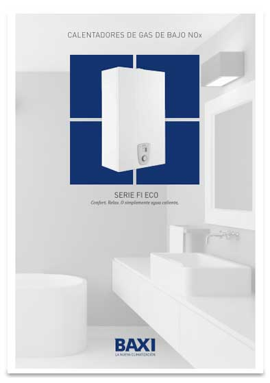 folleto calentador baxi serie fi eco 14