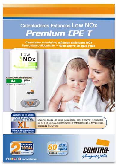 folleto calentador cointra premium cpe 12 t