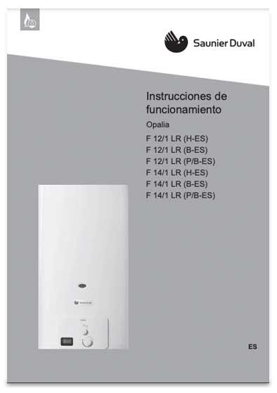 manual usuario calentador saunier duval opalia f 12