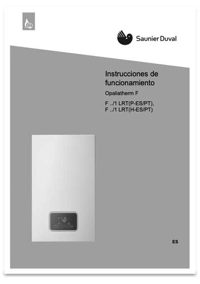 manual usuario calentador saunier duval opaliatherm f 12/1