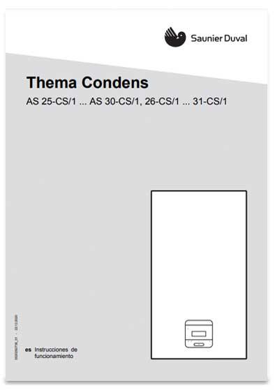 manual usuario caldera saunier duval thema condens mi 26