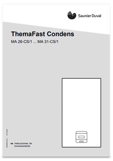 manual usuario caldera saunier duval themafast condens mi 26