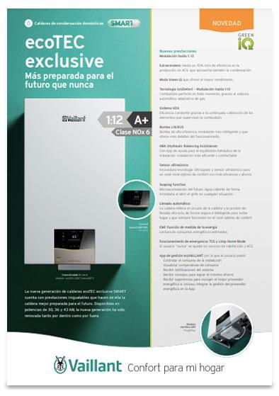 ficha tecnica calderas vaillant ecotec exclusive smart