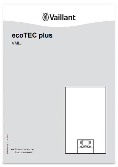 manual usuario calderas vaillant ecotec plus smart mixtas con acumulacion