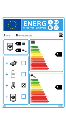 etiqueta de eficiencia energetica caldera vaillant ecotec plus vmw 26 cs/1-5 c sensohome radio