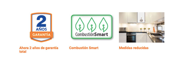 garantia combustion medidas caldera cointra superlative plus