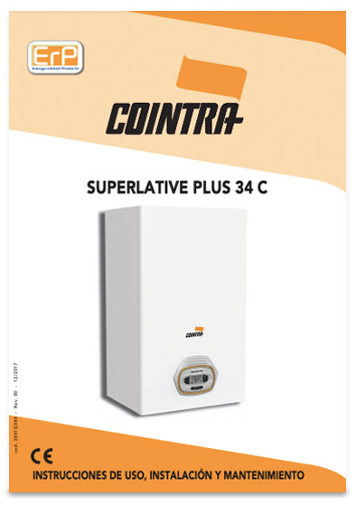 manual instrucciones caldera cointra superlative plus 34 c