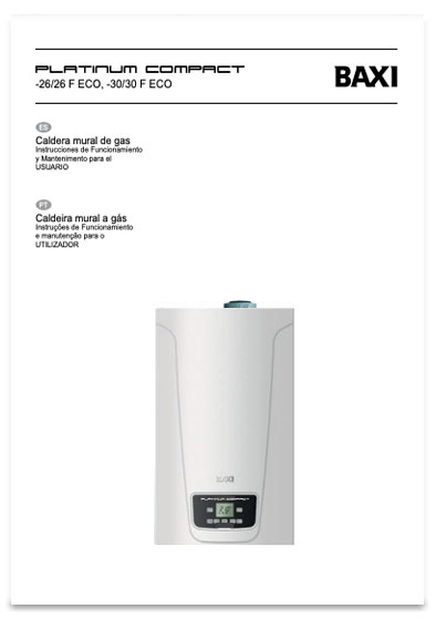 manual usuario calderas baxi platinium compact eco